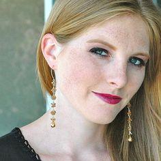 Rare Color-Change Garnet Dangle Earrings / 14K Gold / by shopshrew