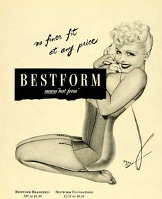 Bestform Brassieres Pin-Up By George Petty - Mad Men Art: The 1891-1970 Vintage Advertisement Art Collection