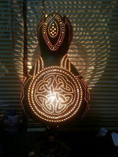 Celtic Knot Gourd Lamp