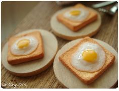 Miniature dollhouse breakfast