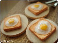 Miniature dollhouse breakfast