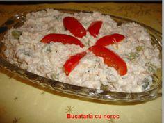 #Salata de ton cu maioneza - Bucataria cu noroc Noroc, Grains, Simple, Salads, Seeds, Korn