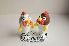 Krawka: Easter egg cozies - Hens, free crochet pattern.