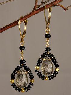 Black Velvet Earrings