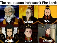 Fire Lords must have a Z in their name