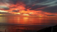 Another spectacular sunset at #FletcherCove in #SolanaBeach on January 7, 2015