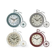 Williston Forge High Wheel Iron Bicycle Tabletop Clock | Wayfair Bicycle Clock, Desktop Clock, Fake Plants Decor, Tabletop Clocks, Floor Colors, Fall Mantel Decorations, Novelty Gifts, Shopping Hacks, Green And Brown