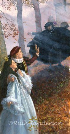 Swan Lake- Odette and Prince Siegfried and Von Rothbart Lake Painting, Romantic Art, Illustrators, Art Block, Fantasy, Illustration, Linocut Prints, Swan Lake, Fairytale Art