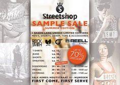 Streetshop Sample Sale 'Summer Edition' -- Nijmegen -- 29/05-31/05