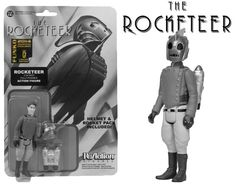 Black and White Rocketeer ReAction Action Figure SDCC Exclusive