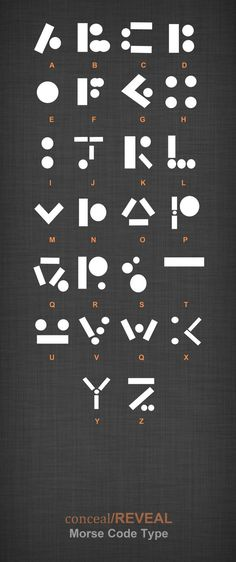 """Here is another concept font I created while working on the """"Conceal/Reveal"""" brief. After looking into hidden messages and code, I concentrated on Morse code and thought about how each dot and dash..."""