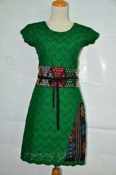 batik dress hijau