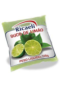 A Polpa de Fruta Riacaeli sabor Limão é um produto 100% Natural, é Distribuída de Fruit Mix nas embalagens de 100g e 1Kg (10 unidades de 100g)
