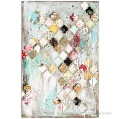 Mixed Media Canvas made with @sizzix Frameworks for my Sizzix TV Show at HSE24.