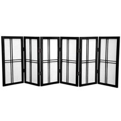 Oriental Furniture 26'' Desktop Double Cross Shoji Screen 6 Panel Room Divider