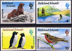 Falkland Islands 1974 Tourism Set Fine Mint  SG 296 9 Scott 227 30  Other South Pacific and British Commonwealth Stamps HERE!
