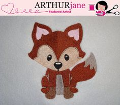 Fox Embroidery Machine Pattern 4x4 by ARTHURjane on Etsy, $3.99
