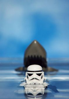 Trooper and the jaws