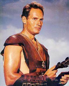 Charles Heston as Ben-Hur.