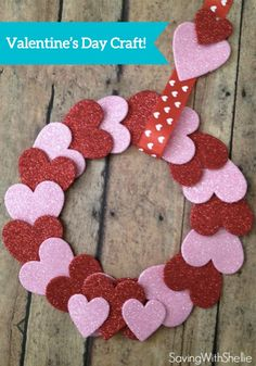 Make your own Valentine's Day Table Scatter Wreath! This might be one of the easiest crafts ever. With just $2 in supplies, you can make a sweet and simple decoration for your home or office.