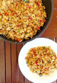 Cuscús marroquí con verduras y garbanzos - Tasty details