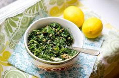 Kale with Lemon Tahini Dressing
