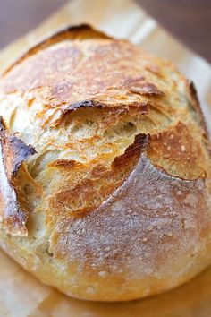 This 4 ingredient no-knead artisan bread is sure to become a family favorite. It's so easy to make, it's practically fool-proof!