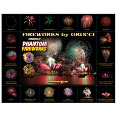Phantom Grucci Poster - check out different firework formations in handy wall reference.