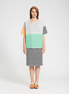 Oppi-paita (multicolor) |Vaatteet, Naiset, Puserot ja t-paidat | Marimekko