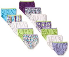 Fruit of the Loom Little Girls' Assorted Briefs (Pack of Our girls' brief is designed with breathable 100 percent cotton fabric, a plush, ravel-free Cool Sweaters, Fruit Of The Loom, Fabric Covered, Nice Tops, Soft Fabrics, Cool Girl, Little Girls, Girl Fashion, Girl Outfits