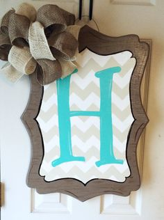 Generic Wooden Door Hanger by SouthernFlareArt on Etsy, $25.00