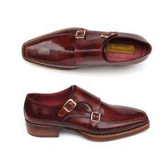 3a0222f043699c Paul Parkman Men s Double Monkstrap Goodyear Welted Shoes . Double  monkstrap style men s handmade shoes.