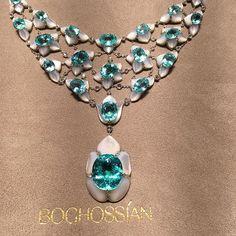 Knock out @boghossianjewels Paraiba Tourmaline necklace spotted @harrods tonight #jewels #harrods