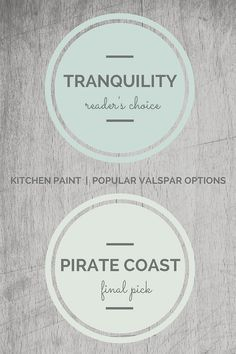 Valspar Kitchen Paint Colors. Valspar Tranquility, Valspar Pirate Coast.  Via Seven Town Way