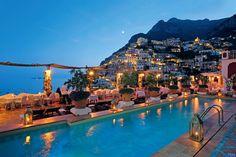 POSITANO - La terrazza del ristorante La Sponda dell'albergo Le Sirenuse (Salerno-Campania)