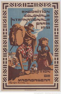 Exposition Coloniale Internationale, Paris 1931 - Section de Madagascar - illustration de Razana Maniraka