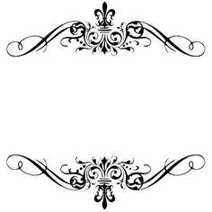 Monograma Stencil Art, Stencils, Art And Craft Images, Islamic Motifs, Molduras Vintage, Hindu Wedding Cards, Florist Logo, Decorative Lines, Harry Potter Wedding