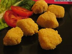 Gluten Free Vegan Chicken Nuggets: http://2brokevegans.com/vegan-chicken-nuggets-gluten-free/