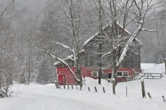 Snow Storm In Rutland, Vermont