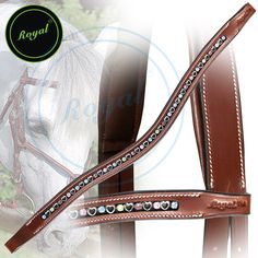 Royal Small Magnificent Multi Crystal in Metallic Heart U-Shaped Brow Band. Regular price $48 Sale price $38 (oak Brown)