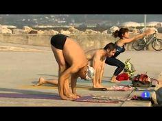 Yoga Dinámico en la Playa de Poniente, Gijón. Panorama Regional de TVE 1...