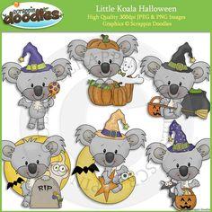 Little Koala Halloween Clip Art