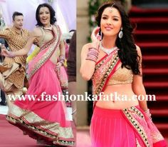 Kristina Akheeva Pink Lehenga Choli In Yamla Pagla Deewana 2 Song