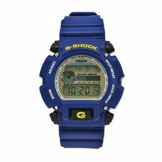 Casio Men's DW9052-2 G-Shock Blue Rubber Digital Dial Watch Casio. $69.00. Water-resistant to 660 feet (200 M). Scratch-resistant mineral crystal. Digital dial; Chronograph; Date display; Backlight; Alarm. Blue rubber case and bracelet. Precise Quartz movement. Save 31% Off!