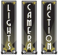 """Awards Night Lights/Camera/Action Cutouts - 19.25"""""""" Case Pack 12"""