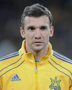 Andriy Shevchenko del Milan de Italia y la Seleccion de Ucrania