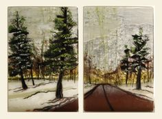 Erica's Road in Fused Glass by Alice Benvie Gebhart