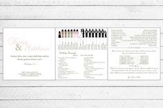 Custom Silhouette Trifold Wedding Program by Writefully Simple