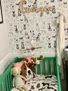 Puppy Nursery Theme, Dog Nursery, Travel Nursery, Nursery Twins, Baby Boy Nurseries, Nursery Themes, Room Themes, Nursery Room, Nursery Ideas