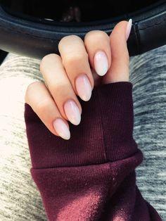 All white almond nails beautiful blush pink almond shape nails soft ombre nails in 2019 Almond Nails Designs, Pink Nail Designs, Short Nail Designs, Nail Designs Spring, Acrylic Nail Designs, Acrylic Nail Shapes, Acrylic Nails Coffin Short, Almond Acrylic Nails, Coffin Nails